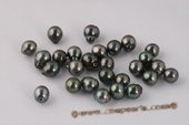 Btahiti1112B 11-12mm Natural Black loose Tahitian baroque circle style pearls,B Grade