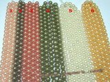 SHPS502 Round rainbow shell pearl strands in wholesale,14mm or else size