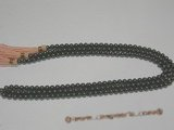 SHPS505 Black Round rainbow shell pearl strands onsale,6mm or above