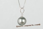 Thpd050 11-12mm Classic Collection Black Tahitian Pearl Pendant