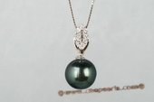 thpd080 925 sterling silver  12-13MM TAHITIAN PEARL PENDANT