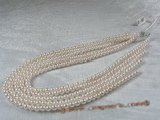 aps5.5-6a1 5.5-6mm A+ White Cultured Akoya Pearl strands 16-inch in length