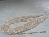aps5.5-6aaa1 5.5-6mm AAA+ White Cultured Akoya Pearl strands 16-inch in length