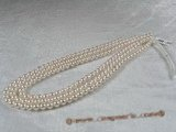 aps6-6.5aa1-aaa1 6-6.5mm AA+-AAA+ White Cultured Akoya Pearl strands 16-inch in length