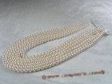 aps6-6.5aaa1 6-6.5mm AAA+ White Cultured Akoya Pearl strands 16-inch in length