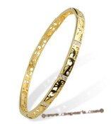 babr014 Wonderful carve Brass bangle and bracelet with Gold Plated