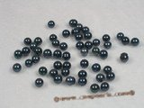 bapl5-5.5aa Black 5-5.5mm AA Grade round chinese akoya loose pearls