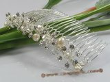 hcj005 Pearl,crystal & rhinestone bridal comb for wholesale
