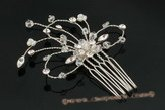 bcj032 Hand-crafted sparking Rhinestones Side & Back bridal Comb