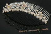 bcj044 Freshwater Pearls & Crystals Bridal Comb jewelry