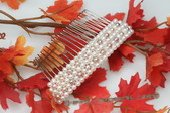 Bcj045 Silver-toned Freshwater Pearls Bridal Hair Comb