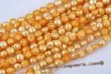 blister046 11-13mm Freshwater Baroque Blister Pearl in Yellow Color