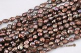 blister049 Brown Color Freshwater Baroque Blister Pearl,11-13mm