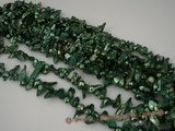 blister1007 Mediumsea green 8-9mm baroque freshwater blister pearl in five strands