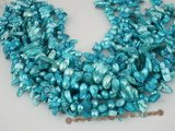 blister1013 wholesale five strand Mediumturquoise freshwater blister pearl strands, 7-8mm