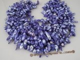 blister1032 Five strand 8-9mm purple freshwater blister pearl factory price wholesale