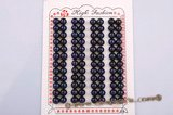 blpb010 wholesale 7-7.5mm AAA grade dark blue bread loose pearl