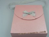 box017 20pcs Cardboard Portable Jewelry set Box in pink color