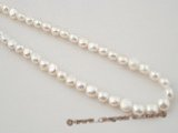 bread06 Good quality 8.5-9mm white color loose bread pearl  strand in wholesale