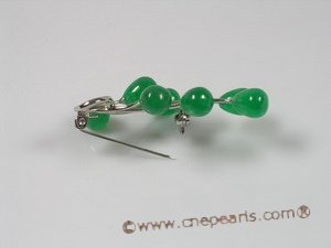 brooch014  18KGP green jade brooches--summer collection