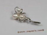 brooch018 sterling silver freshwater pearl brooches wholesale
