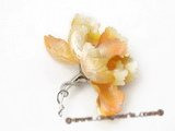 brooch055 Fancy blooming flower design mother of pearl shell brooch& pin