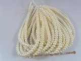 BS06 Nature white 8.5-9.5mm button pearl strands in wholesale