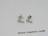 bse002 5 pairs Sterling Silver key design baby earrings wholesale