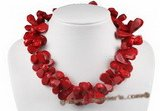 cn126 hand made red teardrop coral necklace with lobster clasp