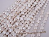 coin024 8.5-9.5mm white coin freshawater pearl strands for wholesale