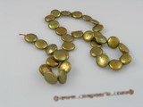 coin_06 12mm champagne cultured freshwater coin shape pearls strands