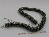 coin_10 12-14mm olive green cultured freshwater coin shape pearls strands