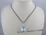 CP001 30mm starfish shape Swarovski  crystal pendant