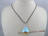 CP004  26*38mm tear drop shaped Swarovski crystal pendant with sterling mounting