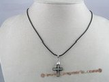 CP008 Swarovski 15*20mm cross faceted crystal pendant with sterling mounting