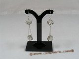 cre014 Sterling round faceted Austrian Crystal dangle earrings