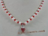 crn026 cultured pearl& faceted chinese crystal necklace in wholesale