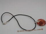 CRP001 35MM coin shape red agate Pendant