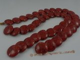 cs004  25mm coin shape red coral strands wholesale, 16""