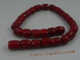 "cs006 17*19mm tubby red coral strands wholesale, 16""in length"