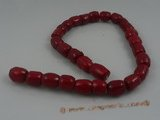 "cs007 12*17mm tubby red coral strands wholesale, 16""in length"