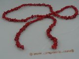 cs008 red branch coral beads strands wholesale, 80cm in length