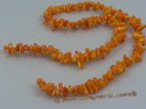 "cs009 jacinth branch coral beads strands wholesale, 16""in length"