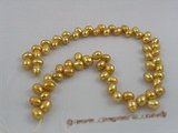 frp004 Wholesale 6-7mm champagne dye color firecracker shape freshwater pearl strands