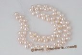 Wholesale white 8-9mm firecracker freshwater pearls strand