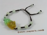 gbr019 Fancy brown cord jade adjustable bracelet in wholesale