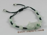 gbr021 Fancy green cord green jade adjustable bracelet on sale