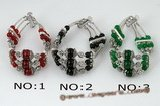 Gbr031 Fancy Vintage style gemstone bracelet in three rows