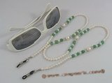 GCH001 Shell pearl& jade Beaded grandmother Eyeglass holders