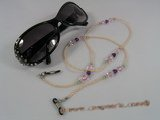 GCH004 Elegant pearl& faceted crystal grandmother&#39s Eyeglass holders